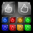 Like icon sign Set of ten colorful buttons with vector image vector image