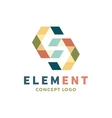 Logo element volume and flat polygon style vector image vector image