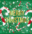 merry christmas with candy cane vector image vector image