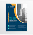 modern blue annual report brochure flyer design vector image vector image
