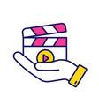 movie release color icon vector image vector image