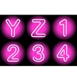 neon letters vector image vector image