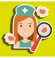 nurse service search healthy vector image