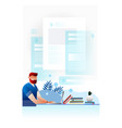 online journalist copywriting concept vector image vector image