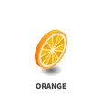 orange icon symbol vector image