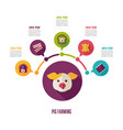 pig farming icon and agriculture infographics vector image