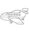 plane sketch coloring book cartoon isolated vector image vector image