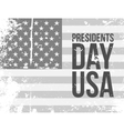 Presidents Day USA Text on grunge Flag vector image vector image