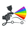 pulverizer in hand car coloring vector image vector image