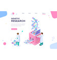 research genetic concept vector image