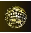 Retro disco ball vector image