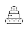 robot car icon - artificial intelligence vector image vector image