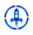 rocket turn icon vector image