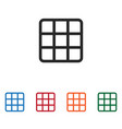 rubiks cube icon vector image vector image