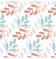 seamless pattern with gentle branches of leaves vector image vector image