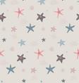 seamless pattern with starfish marine life vector image