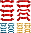 set of ribbons banners isolated on white vector image vector image