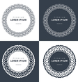 set outline emblems and badges - abstract hipster vector image vector image