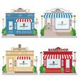 set street building facade barbershop front vector image vector image