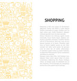 shopping line pattern concept vector image