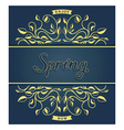 Spring card with floral pattern vector image