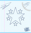 star line sketch icon isolated on white background vector image