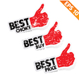 Stitcker Best tag collection - - EPS10 vector image