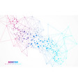 structure molecule and communication dna atom vector image vector image