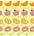 Tasty hand drawn seamless pattern vector image vector image