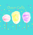 three cotton candy vector image