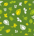 tile pattern with seamless floral and leaves print vector image
