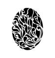Vintage black egg background vector image