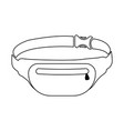 waist bag icon on white vector image