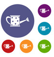watering can icons set vector image vector image