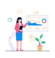 women report concept flat vector image