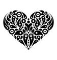 Decorative heart tattoo vector image
