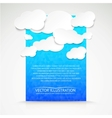 Paper clouds with blue background vector image