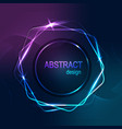 abstract banner hexagone shine vector image