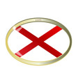 alabama state flag oval button vector image vector image