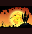 backgroundfestival halloweensunsetfull moon on vector image vector image