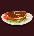 beef steak detailed food drink cooking vector image