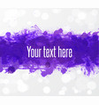 big bright ultra violet grunge splashes on white vector image vector image