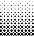 Black and white dot pattern background vector image vector image