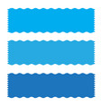 blue banner ribbon icon on white background vector image vector image