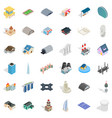 building icons set isometric style vector image vector image