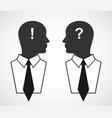 Business concept silhouette head Design elements vector image