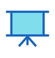 Business presentation filled line icon blue color