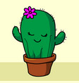 cactus icon isolated on white background cactus vector image vector image
