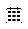 calendar icon calendar isolated flat web mobile vector image