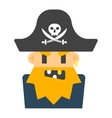 Captain pirate character silhouette vector image vector image